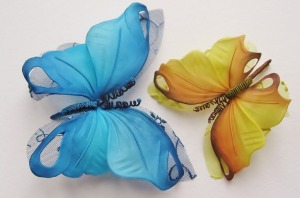 hand painted butterflies, butterfly decor, butterfly hair clip, butterfly brooch, wedding butterflies