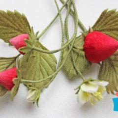 Fabric strawberries