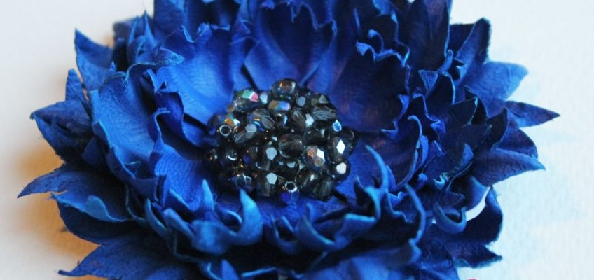 Leather and suede flowers