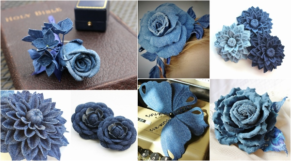 denim wedding accessories