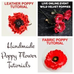 how to make a fabric poppy