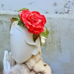 Oversized rose headdress