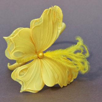 fabric butterfly headband