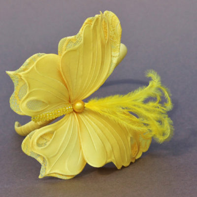 fabric butterfly headband