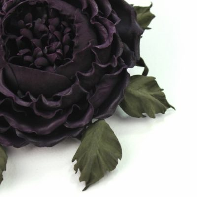 Leather rose corsage