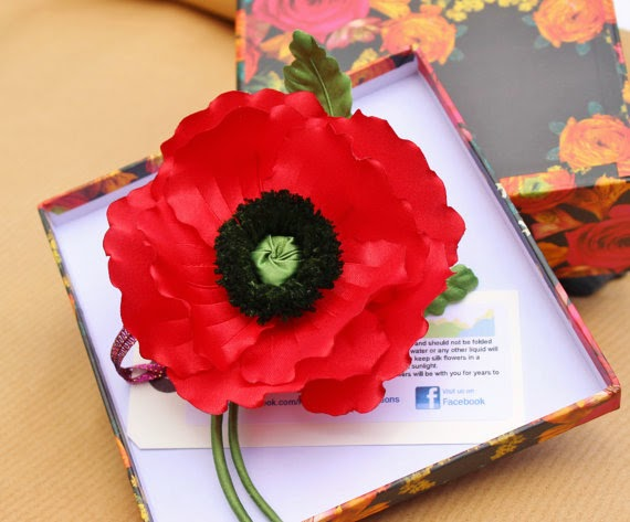 Buy silk flowers uk archives presentperfect creations original silk poppy mightylinksfo