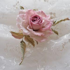 bridal silk rose comb