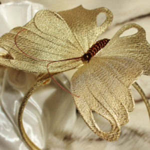 Golden fascinator