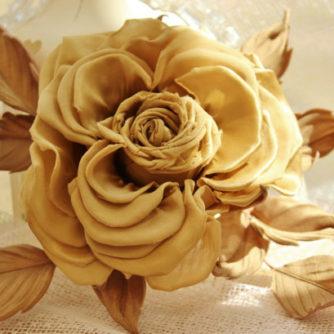 golden rose fascinator