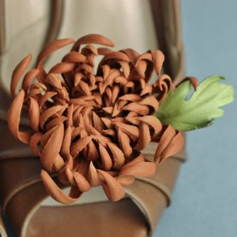 leather chrysanthemum shoe clips 2
