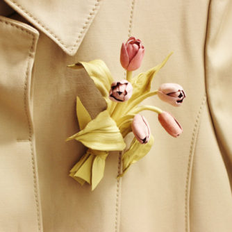 leather tulip brooch2