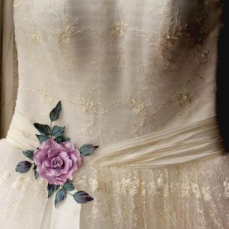 Bridal sash flower