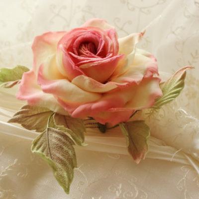 silk rose hair comb
