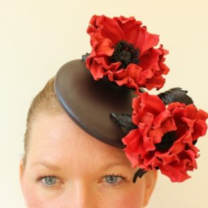 leather poppy hat