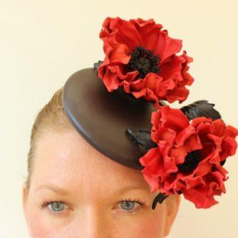 leather poppy hat