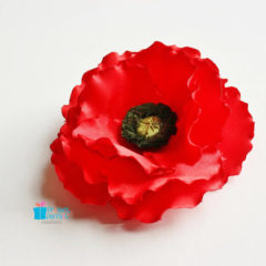 Join our charity workshop on a Remembrance poppy corsage