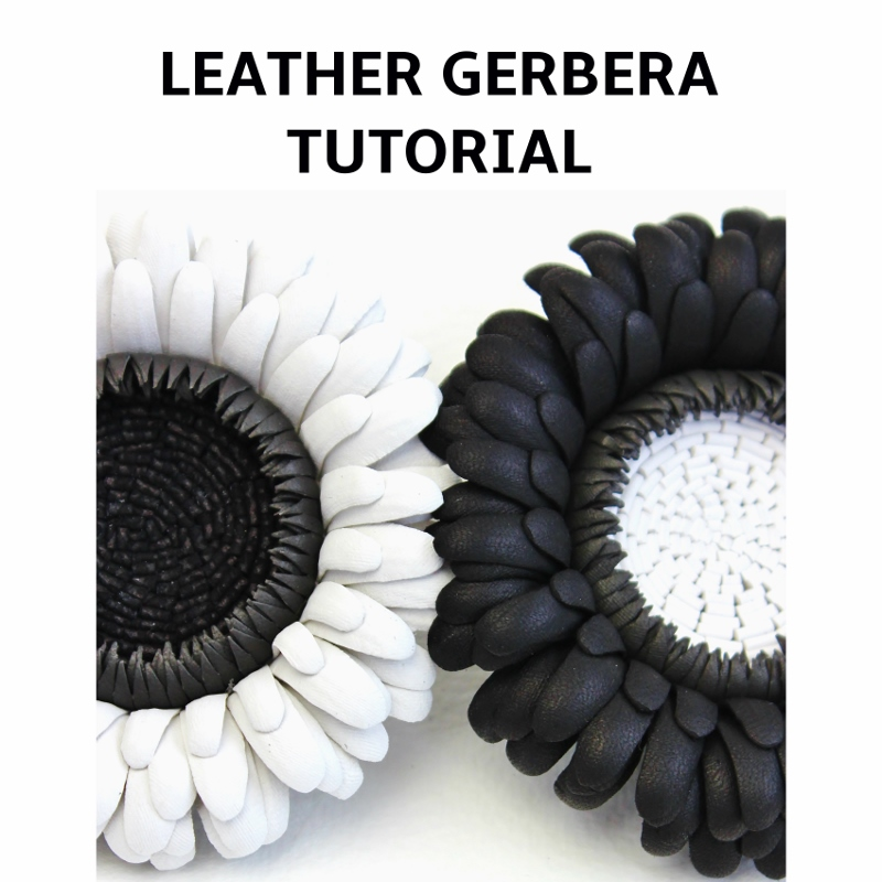 LEATHER GERBERA TUTORIAL