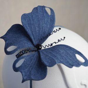 denim butterfly headpiece