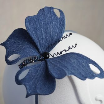 denim butterfly headpiece