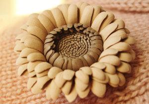 beige gerbera knit
