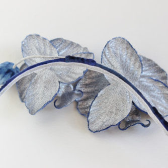 blue orchid headpiece back