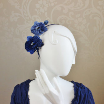 blue orchid headpiece