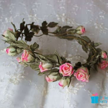 Wedding silk flower circlet