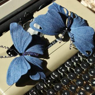 denim butterflies