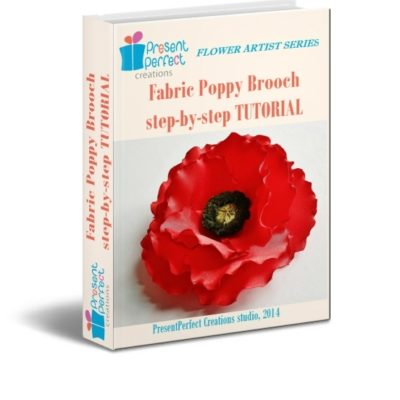 fabric poppy corsage kit pattern