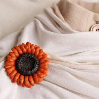 leather flower corsage