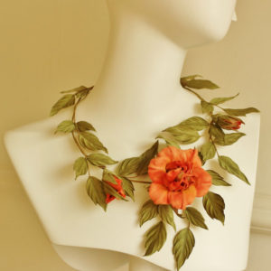 silk flower necklace