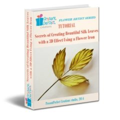Want to know how to create realistic looking silk rose leaves with a 3D effect? Here's how I do it