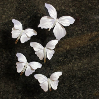 white buterflies