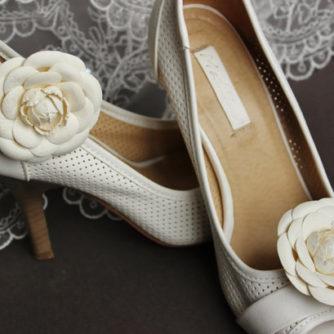 white camellia shoe clips 2
