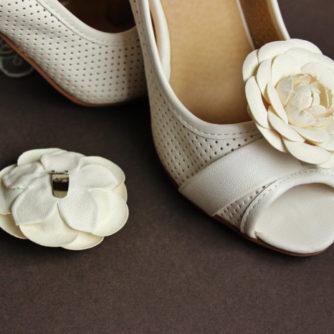 white camellia shoe clips 3
