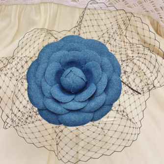 denim flower hairpiece 2