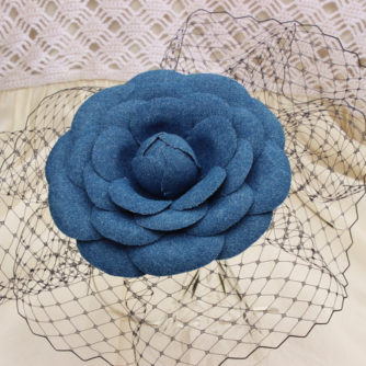 denim flower hairpiece 3