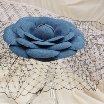 denim flower hairpiece 4