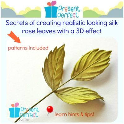 Fabric leaves tutorial, millinery leaves (.pdf)