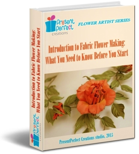 Introduction to fabric flower making ebook