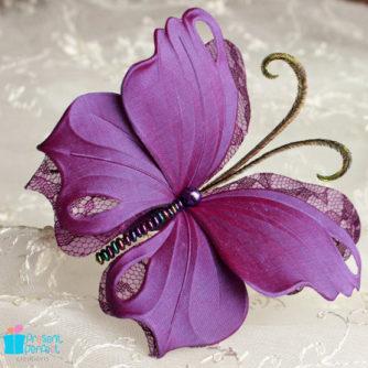 purple butterfly headband 1