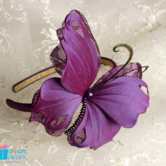 purple butterfly headband 2