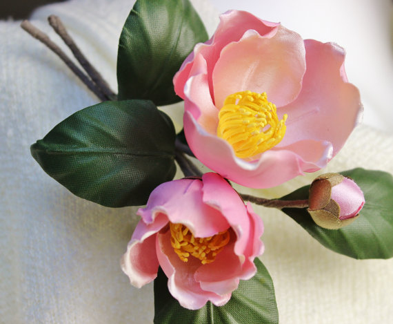 silk camellias