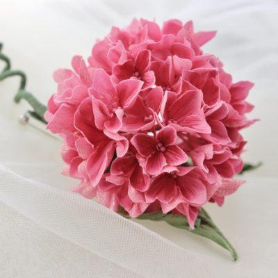 fabric hydrangea corsage