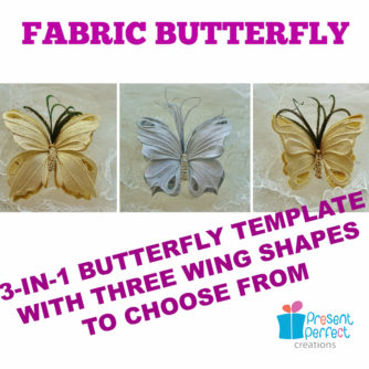 fabric butterfly template banner