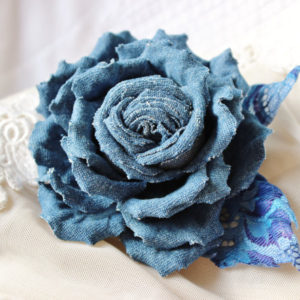 denim flower