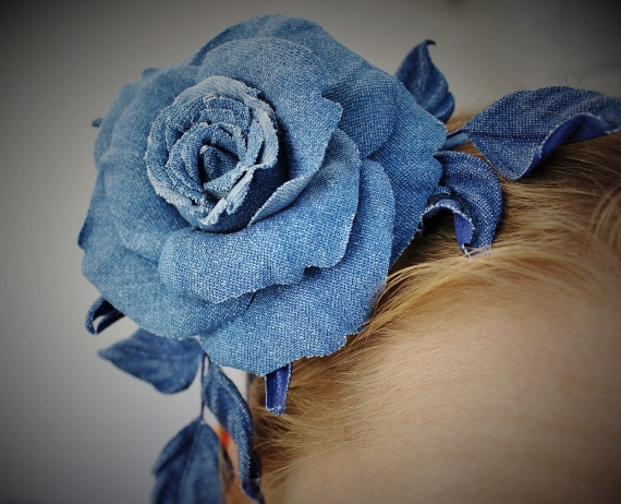 Diy Denim Hair Accessories