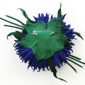 leather cornflower brooch 3