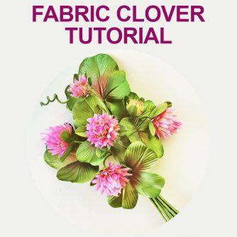 fabric clover tutorial
