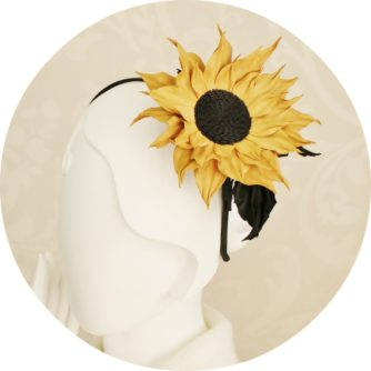 Sunflower headband round
